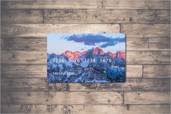 Free PSD Credit Card Mockup Design