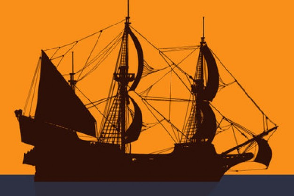 Free Pirate Ship Vector illustration