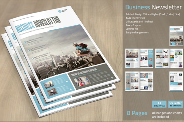 30 business newsletter templates free premium for Free publisher newsletter templates