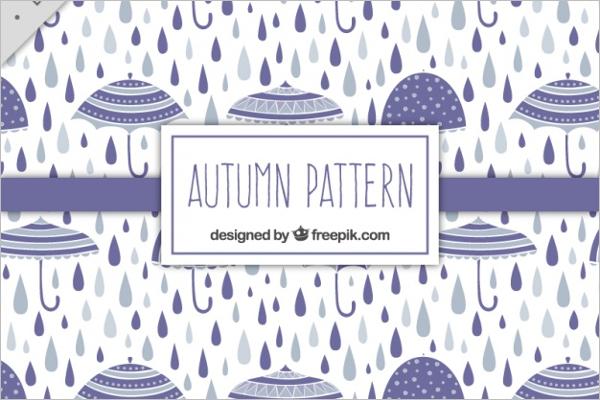 Free Rain Drops Pattern