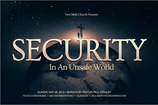 Free Security Postcard Template
