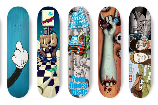 Free Skateboard Collection Mockup Template