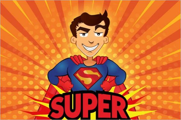 Free Superhero Cartoon Template