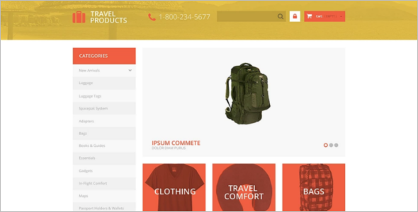Free Travel Store PrestaShop Theme