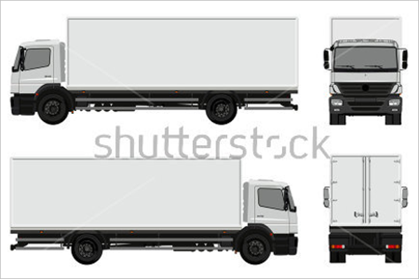 Free Truck Mockup PSD Template
