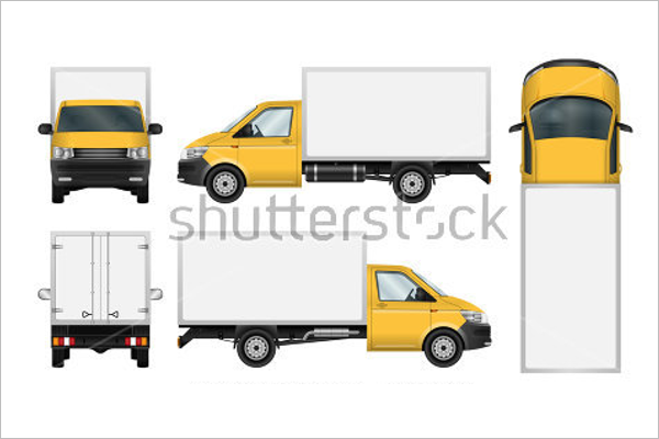 Free Truck Mockup Template