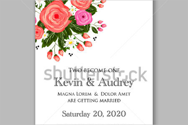 Free Vector Wedding Invitation Card