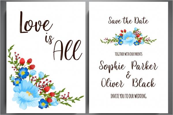 Free Wedding Postcard Design