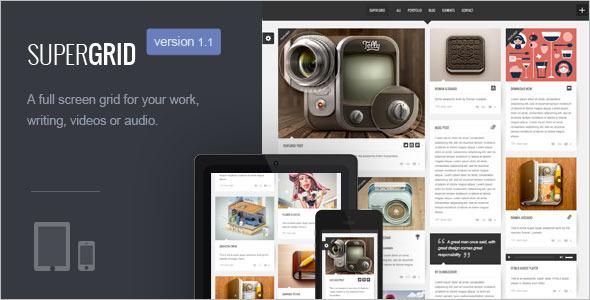 Fullscreen Grid Style WordPress Template