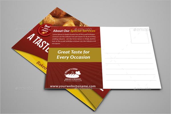 Fully Editable Bakery Postcard Template
