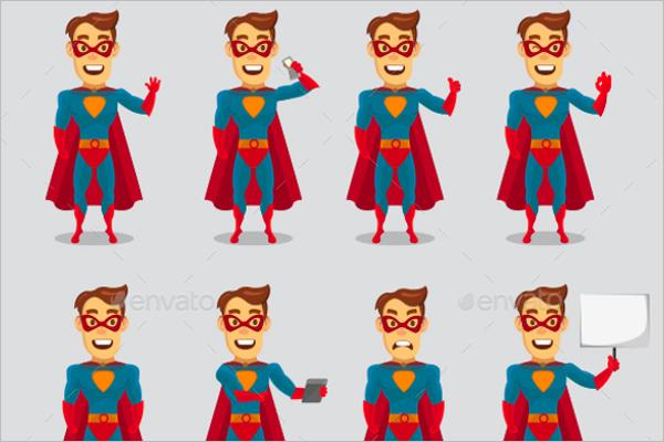 Fun Super Hero Cartoon Template