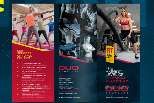 GYM Traning Brochure Template