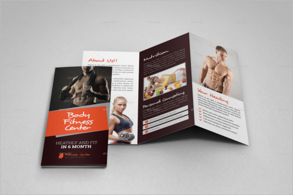 GYM Trifold Brochure Design