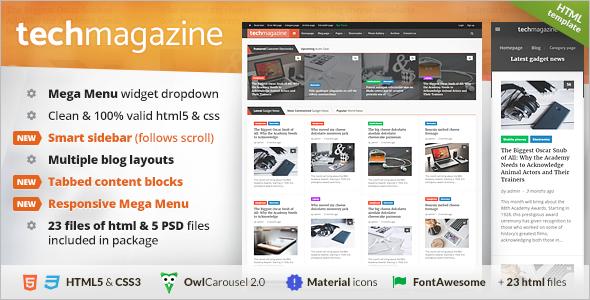 Gadgets Magazine PHP Theme