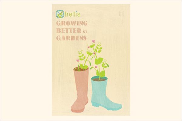 Garden Growing Postcard Template