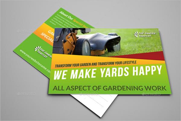 Gardening Business Postcard Template