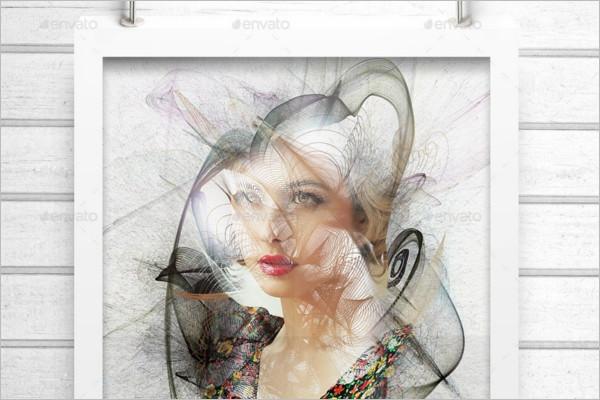 Geometric Photo Frame Template