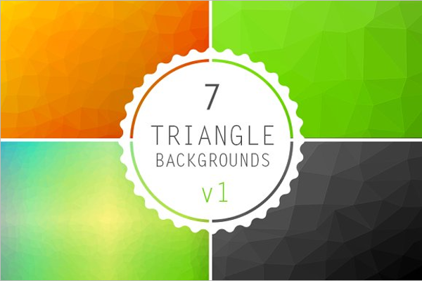 Geometric Triangle Background Design