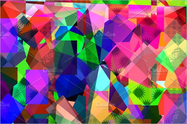 Geometric Triangle Background Template