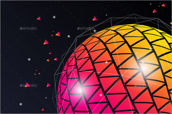 Geometric Triangle Ball Template