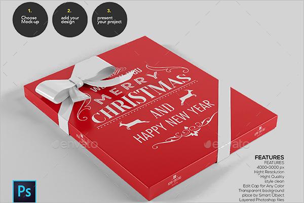 Gift Box Design Mockup Template