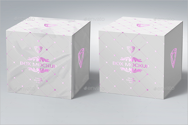 Gift Package Box Mockup Design