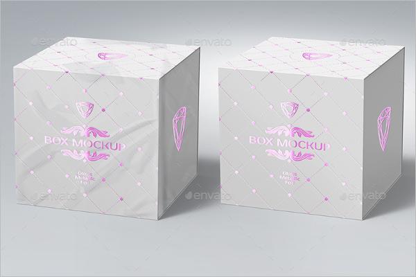 Gift Package Box Mockup Design