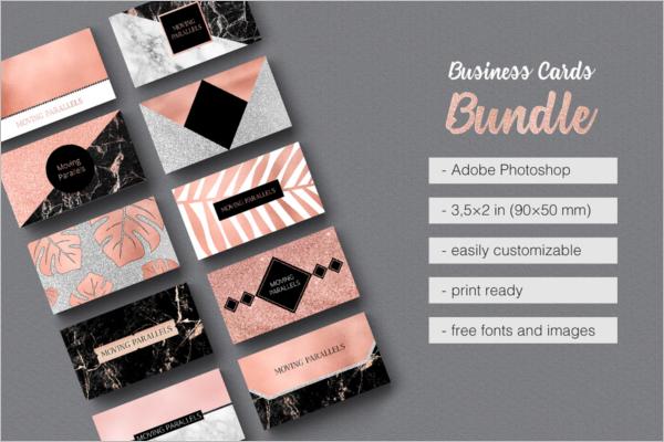 Glitter Business Card Templates
