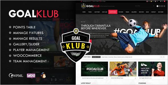 Goal Club WordPress Template