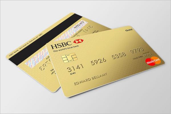 GoldCredit Card Mockup Design