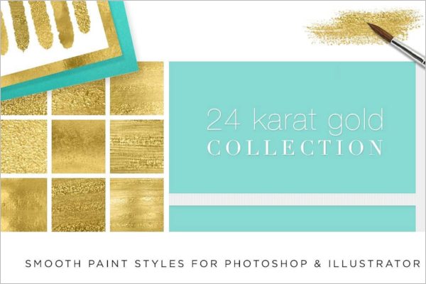 Gold Paint Textures
