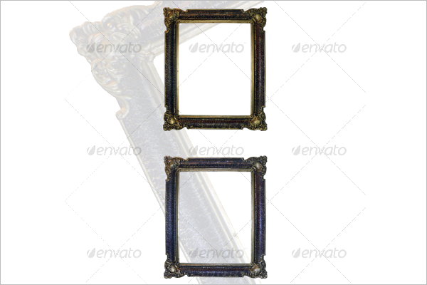 Golden Antique Frame Template