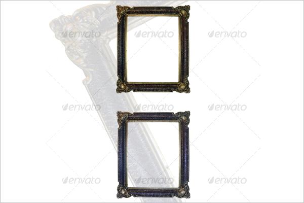 Golden Antique Frame Template