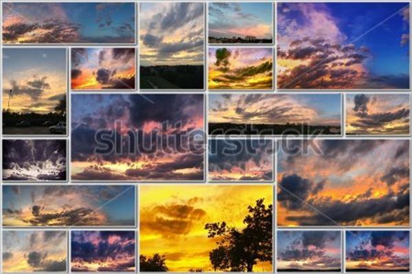 Golden Cloud Photo Frame Template