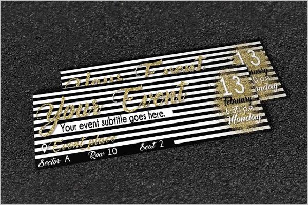 Golden Ticket Template