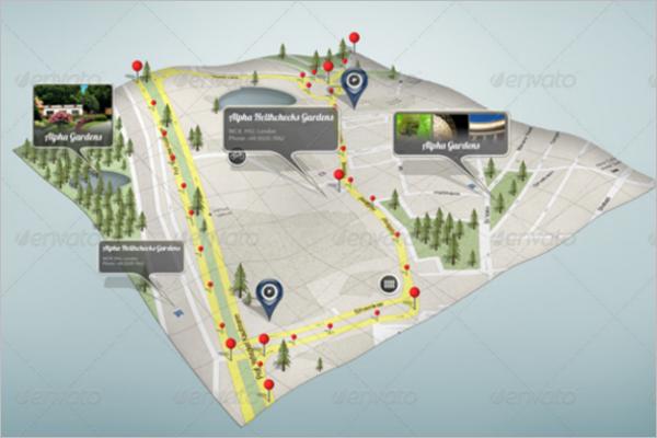 Google Map PSD Mockup Design