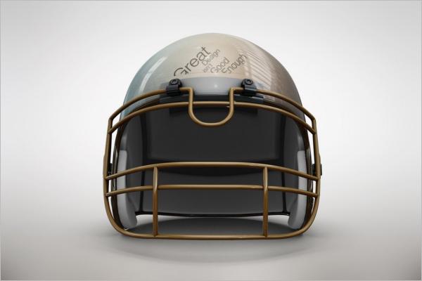 Graphic Football Helmet MockUp