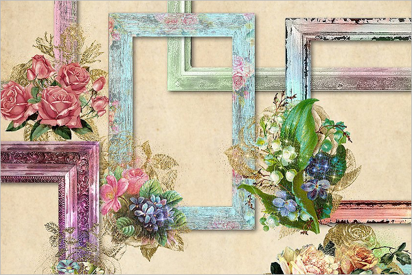 Graphical Antique Picture Frame Design