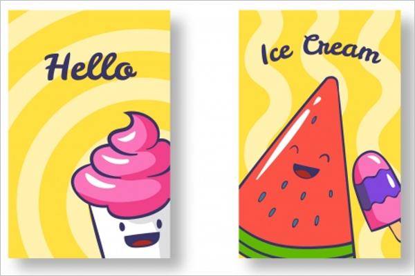 Great Ice Cream Cone Card Template