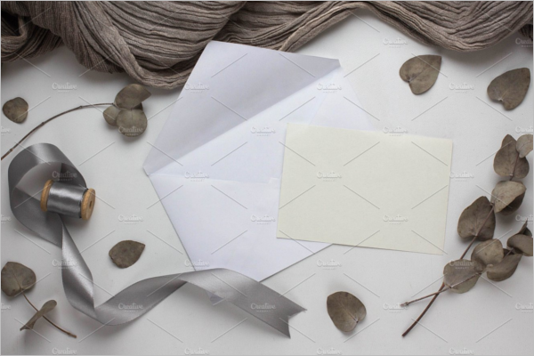 Grey Fabric Vintage Envelope Template