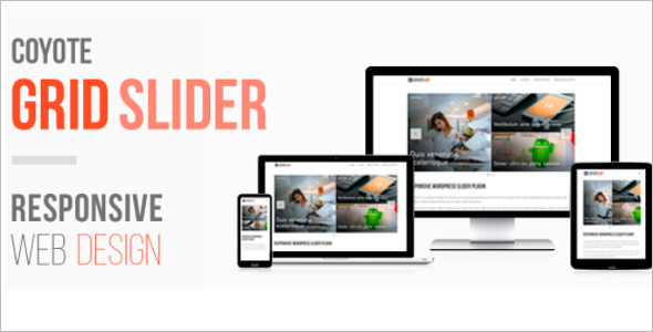 Grid Slider Design WordPress Theme