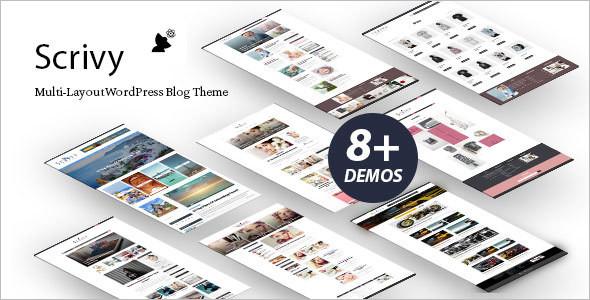 Grid Style Blog WordPress Template