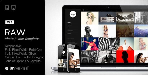 Grid Style Photography WordPress Template