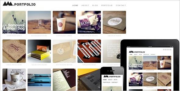 Grid Style WordPress Design Template