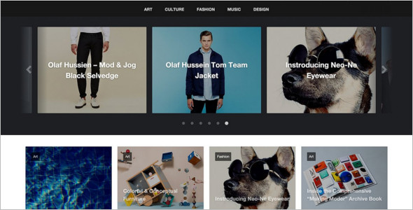 Grid Style WordPress Theme Model