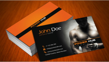 Gym Business Cards