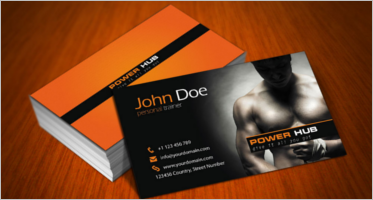 Gym Business Card Templates