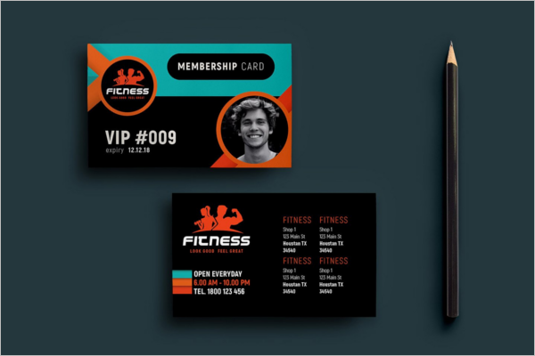 Gym Membership Card Template