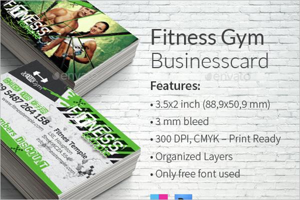 Gym PSD Business Card Template