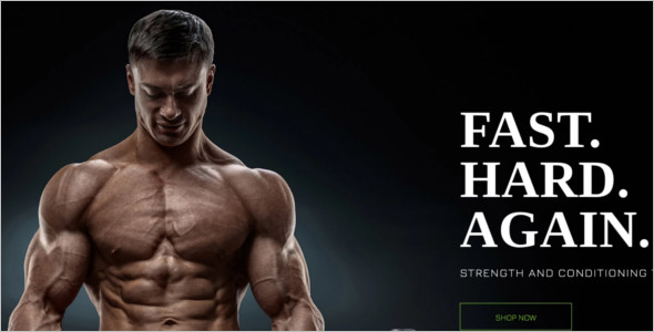 Gym Store PrestaShop Template
